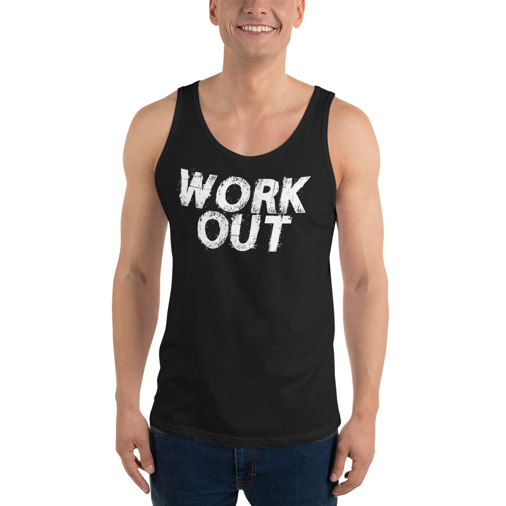 Work Out Unisex Tank Top
