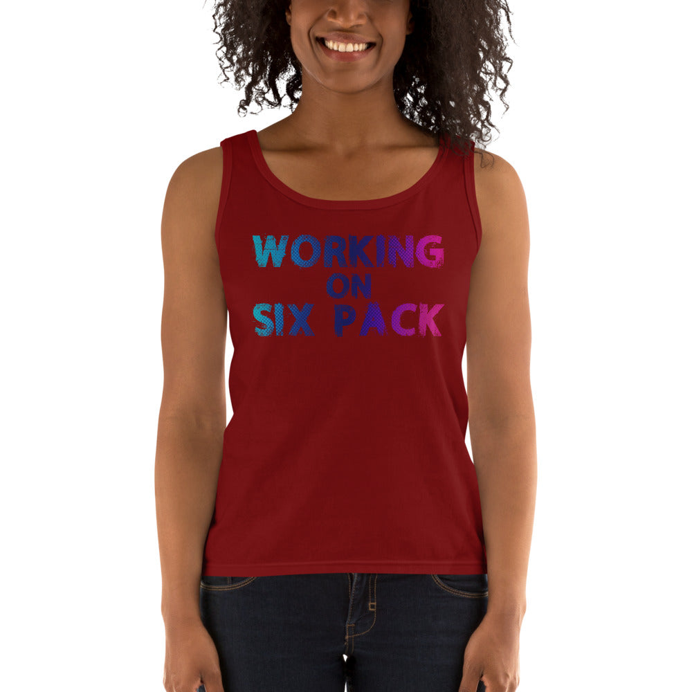 Working On Six Pack Ladies' Tank