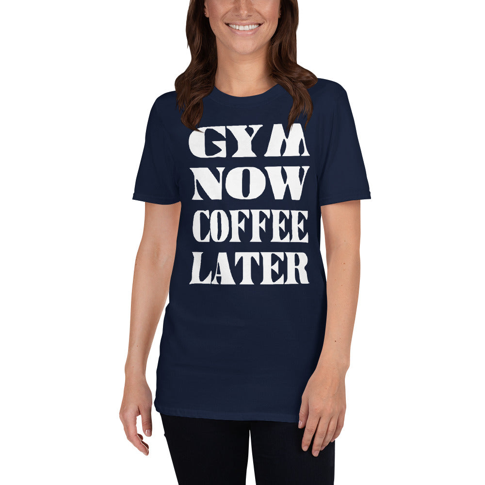 Gym Now Coffee Later Short-Sleeve Ladies' T-Shirt
