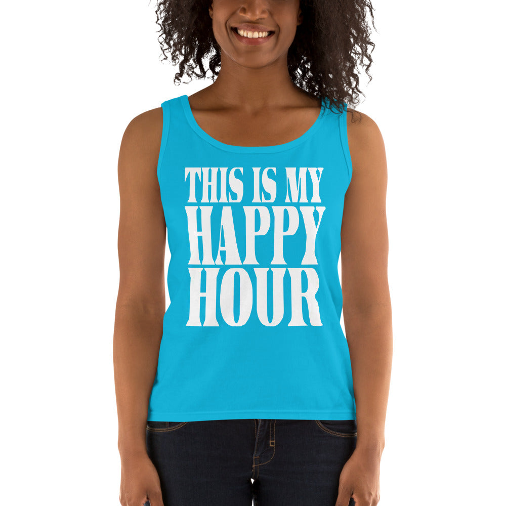 This Is My Happy Hour Ladies' Tank
