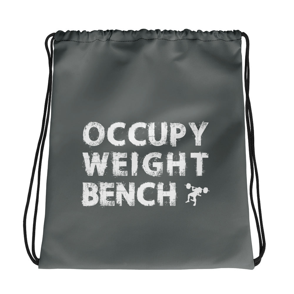 Occupy Weight Bench Drawstring bag