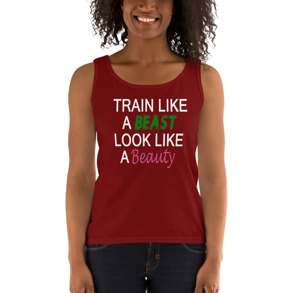 Train Like A Beast Look Like A Beauty Ladies' Tank