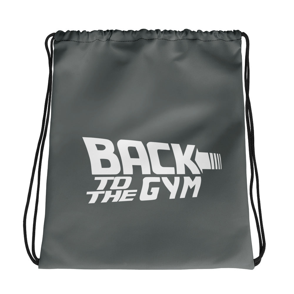 Back To The Gym Drawstring bag