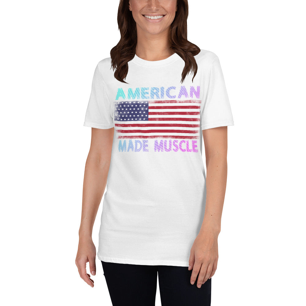 American Made Muscle Short-Sleeve Ladies' T-Shirt