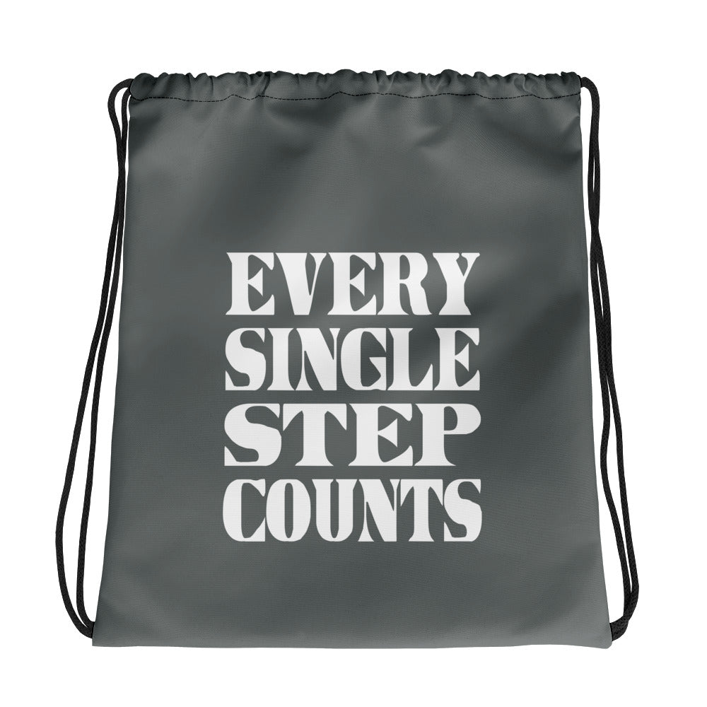 Every Single Step Counts Drawstring bag