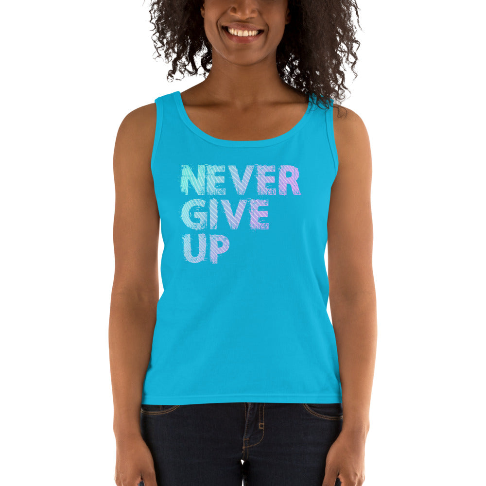 Never Give Up Ladies' Tank