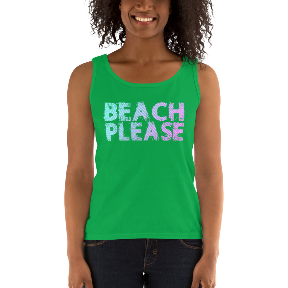 Beach Please Ladies' Tank