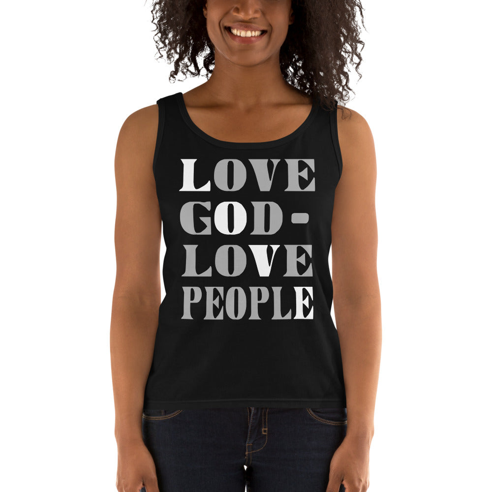 Love God Love People Ladies' Tank