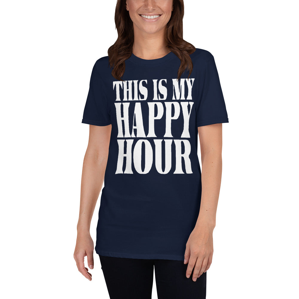 This Is My Happy Hour Short-Sleeve Ladies' T-Shirt