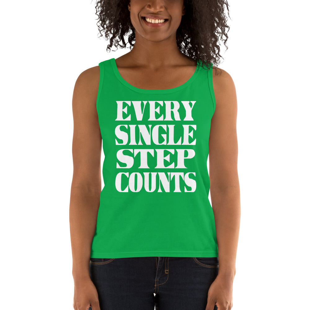 Every Single Step Counts Ladies' Tank
