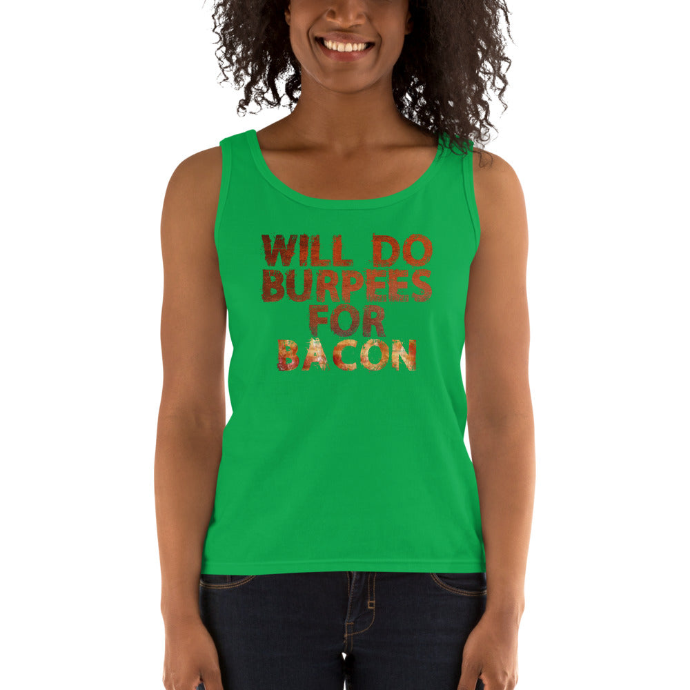 Will Do Burpees For Bacon Ladies' Tank