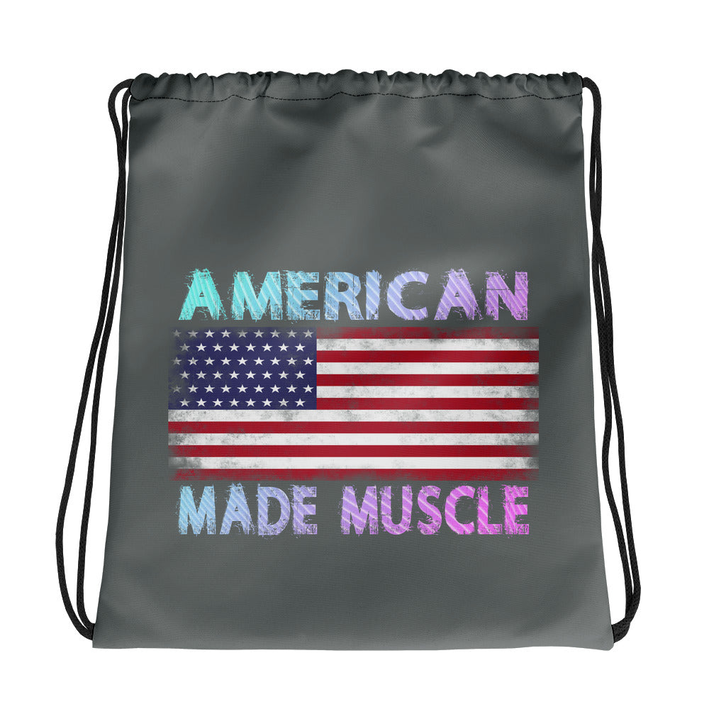 American Made Muscle Drawstring bag