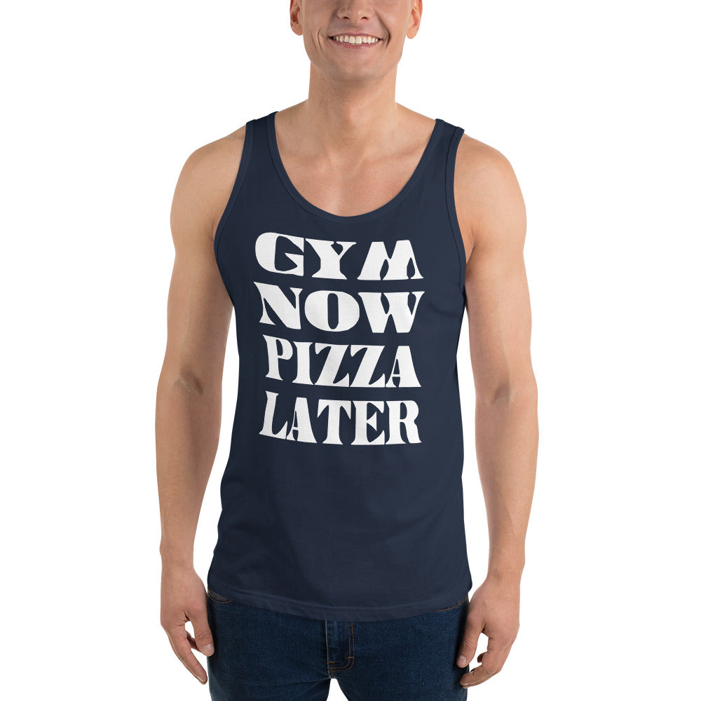 Gym Now Pizza Later Unisex Tank Top