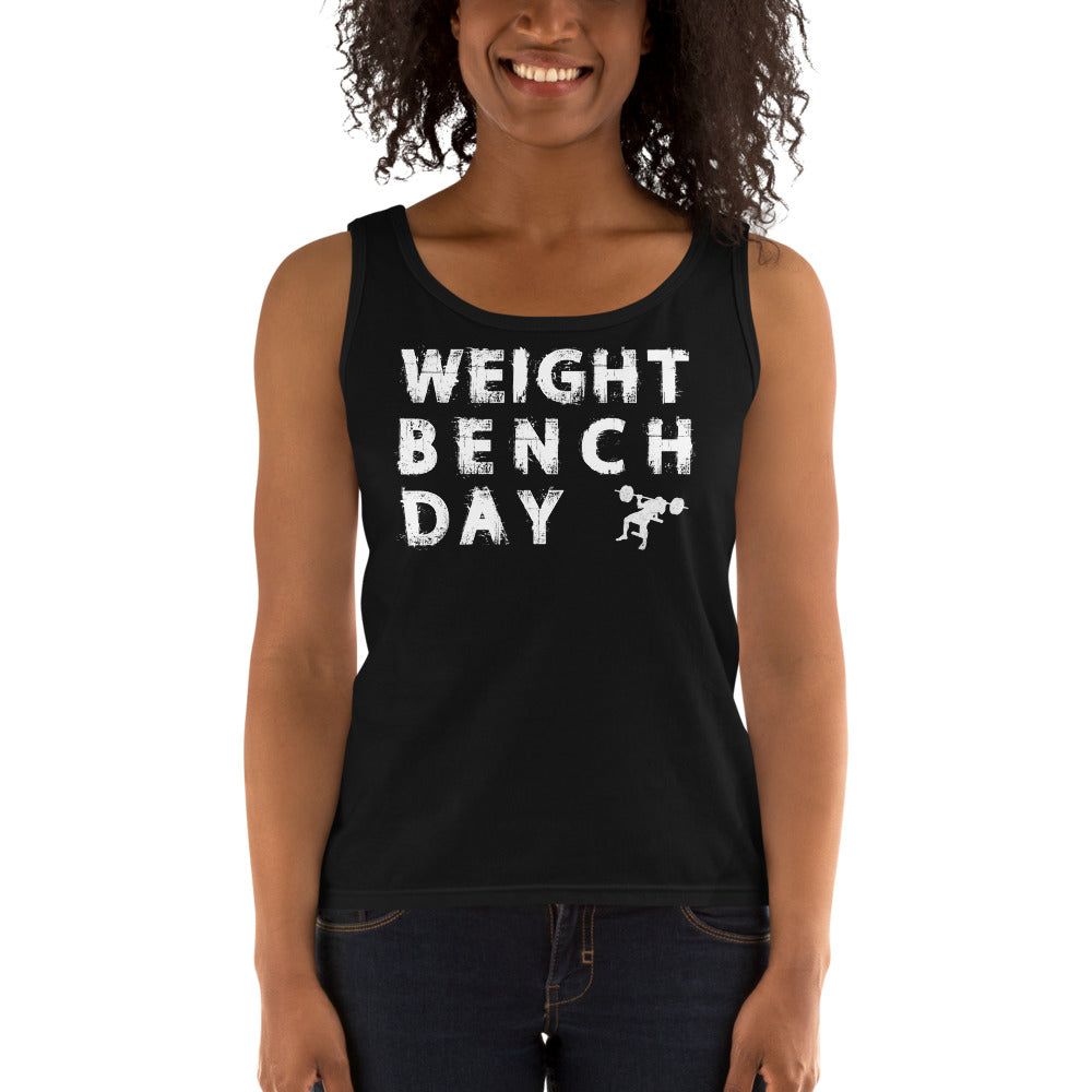 Weight Bench Day Ladies' Tank