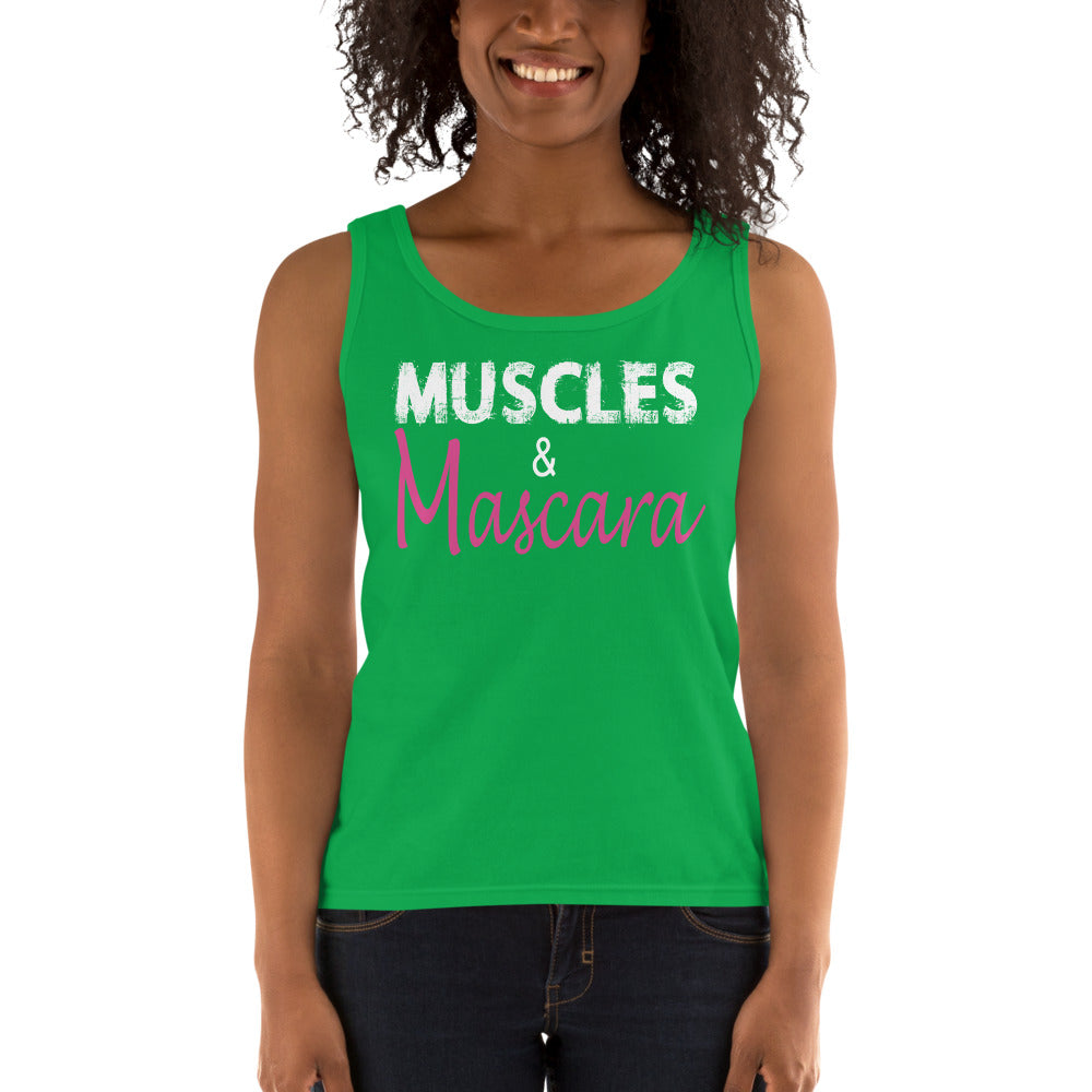 Muscles And Mascara Ladies' Tank