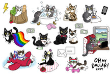 Load image into Gallery viewer, Clear Cat Planner Stickers