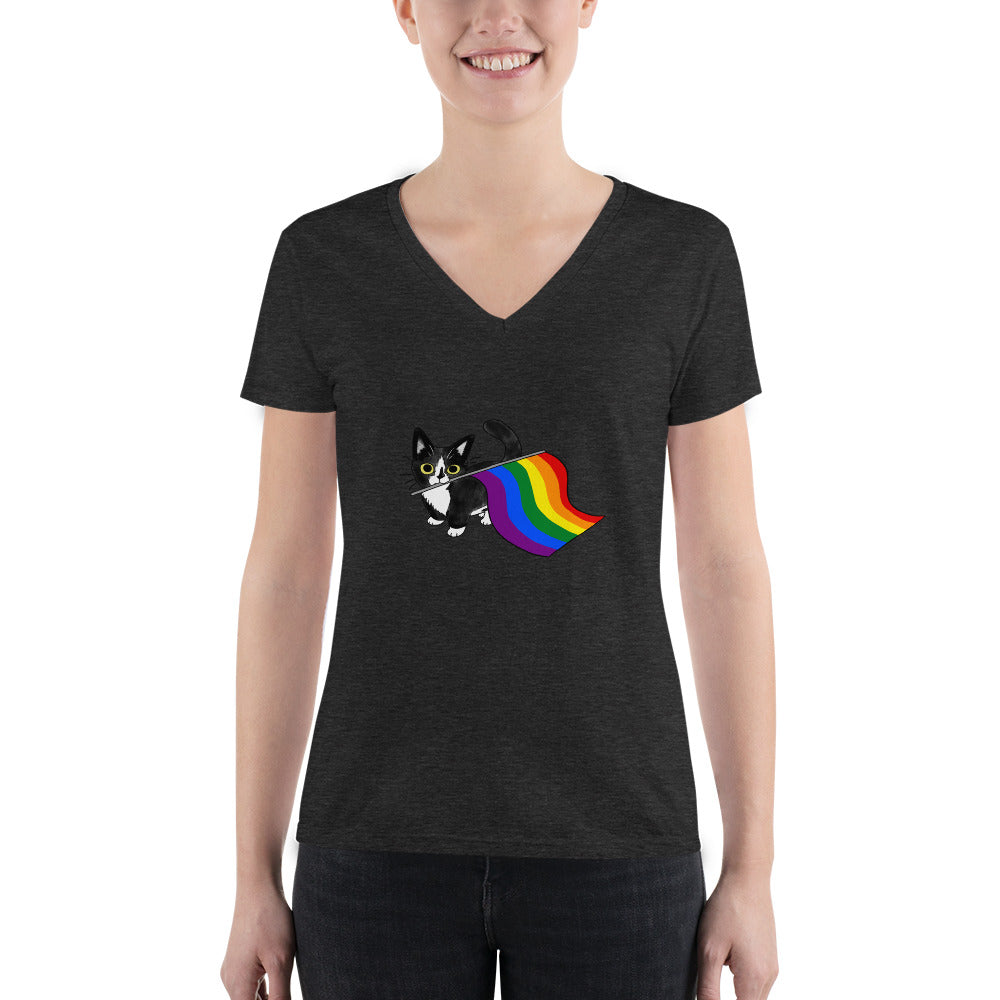 Pride Kitten V-Neck Tee