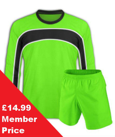 Lime Green Football Kit