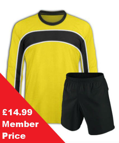 Bright Yellow Football Kit