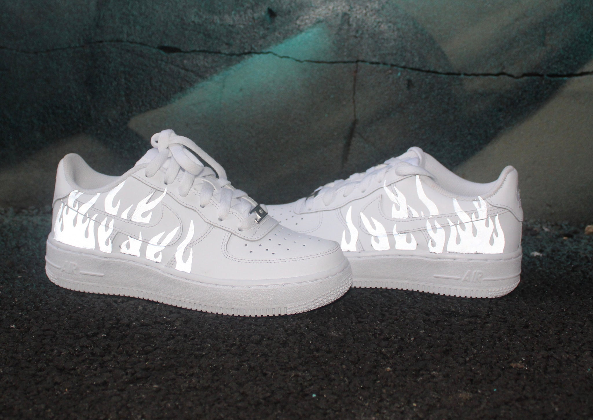 3m Reflective Flames Nike Air Force 1 S The Custom Supplier
