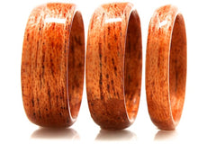 Mahogany wood rings