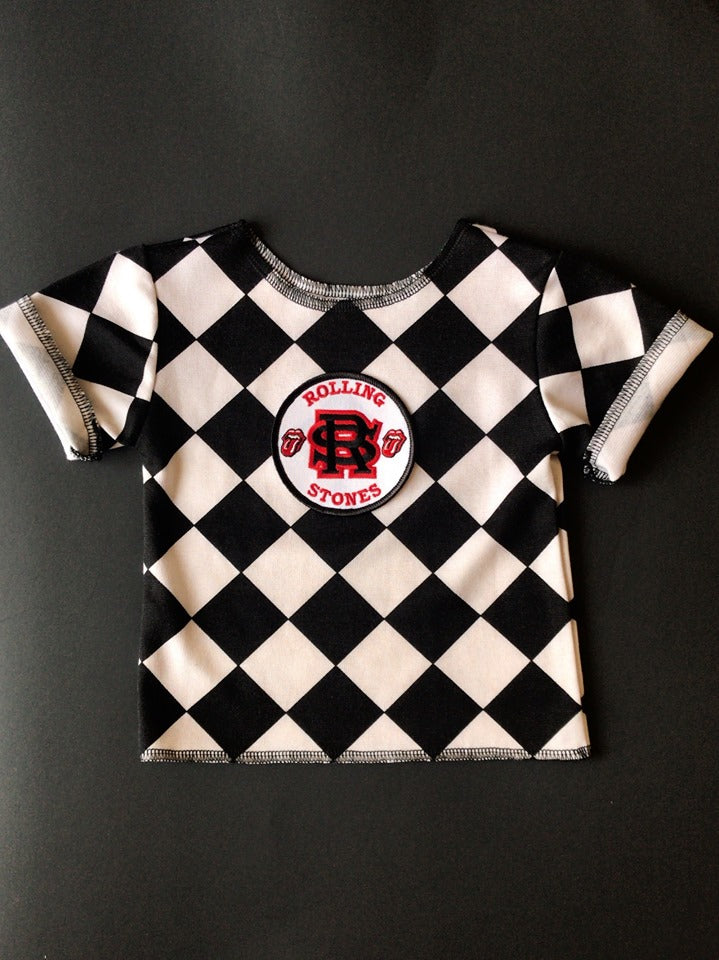 Rolling Stones Checkered T-shirt - 6/12M