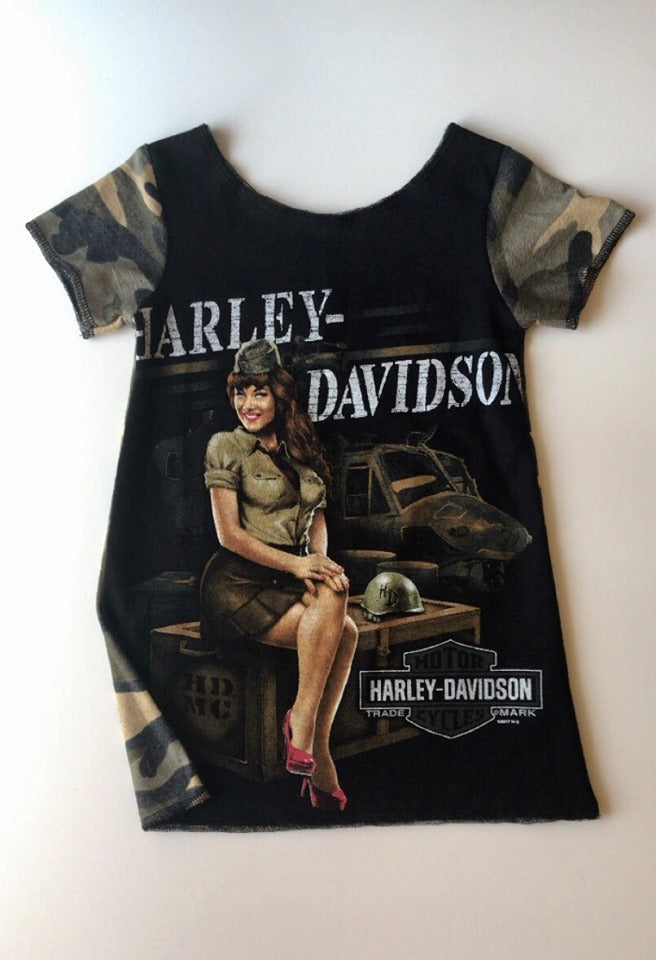 Harley Davidson Camo T-shirt Dress - 18/24M