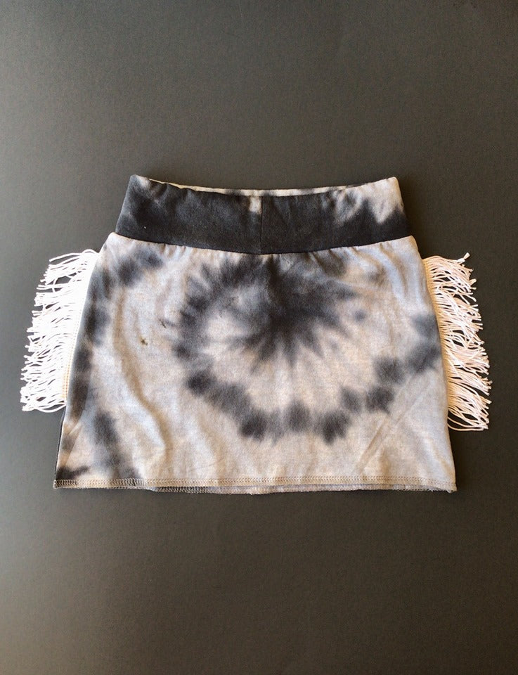 Tie Dye Fringe Pencil Skirt  - 2T