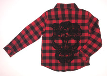 Load image into Gallery viewer, Black Skull Flannels (baby/kids)