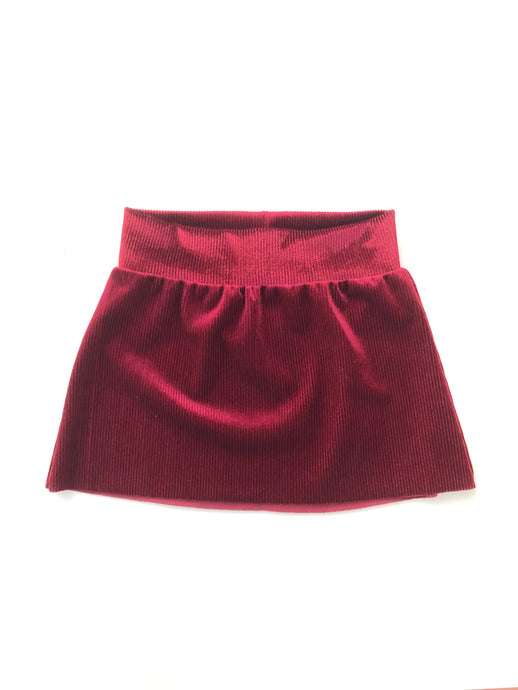 Velvet Corduroy Mini Skirt