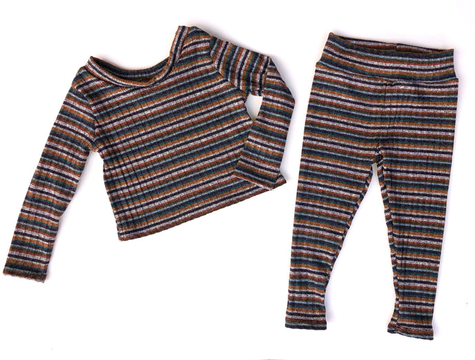Fall Striped Rib Set