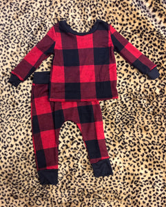 Buffalo Plaid Christmas Jammie Set