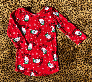 2T Ho Ho Ho Santa Long Sleeve Dress