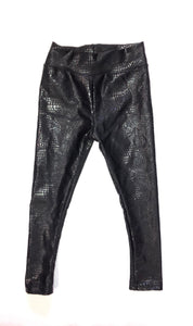 Black Snake Skin Leggings
