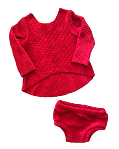 Christmas Red Hi-Low Bummie Set