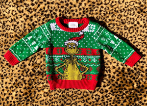 3/6M Grinch Christmas Sweater