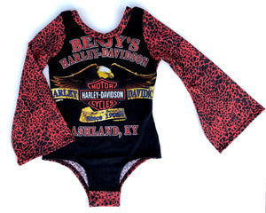 CUSTOM Bell Sleeve Harley or Band Leotard