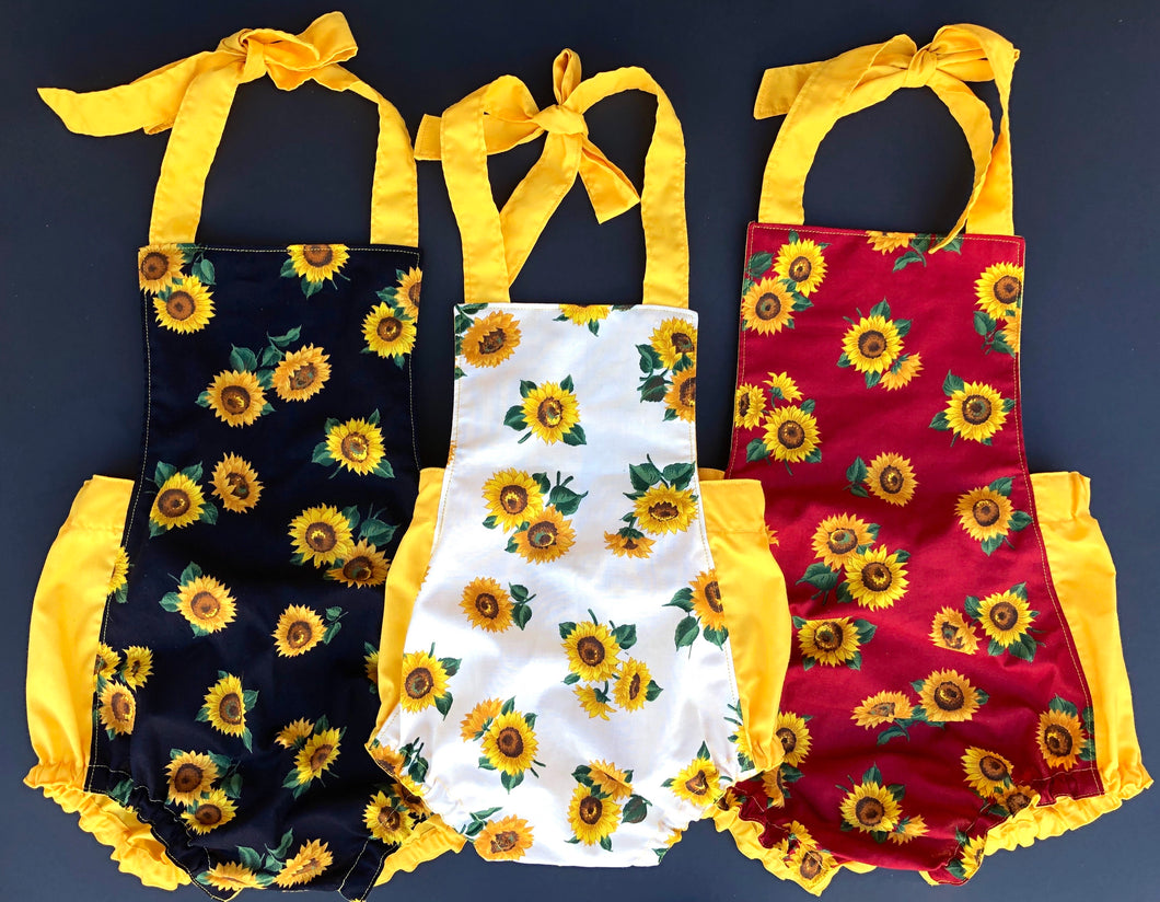 Sunflower Bubble Rompers