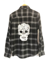 Load image into Gallery viewer, Black Skull Flannels (women's)