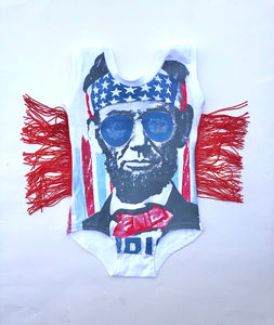 (WITHOUT SNAPS) Independence Day Tank Leotard