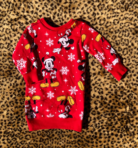 6/12M Mickey Christmas Pullover Dress