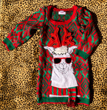 Load image into Gallery viewer, 6/7 Reindeer Llama Sweater Dress