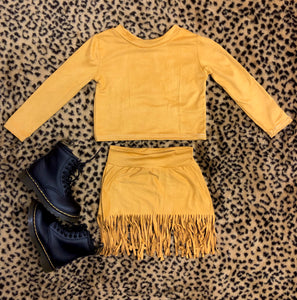 Suede Fringe Sets