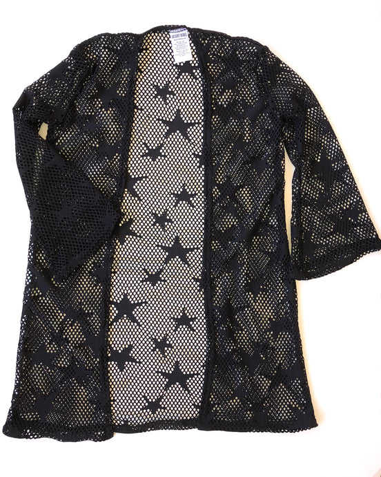 Black Star Bell Sleeve Duster Cardigan