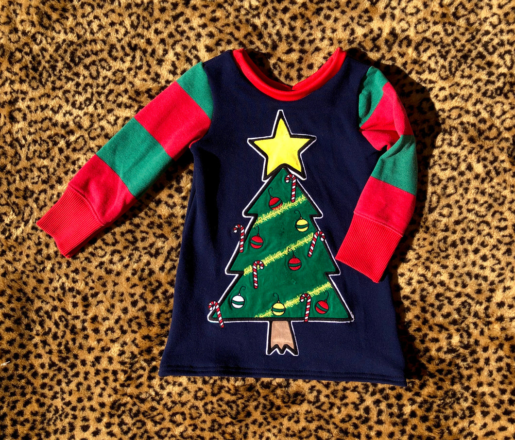 18/24M Christmas Tree Sweater Dress