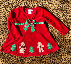 3T Vintage Velvet Christmas Long Sleeve Dress