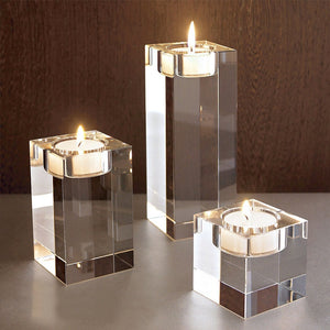 Crystal Cube Candle Holder - infoAlamaison