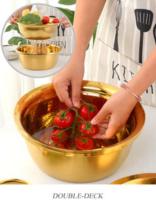 Gold 5 in 1 Kitchen Accessory - infoAlamaison