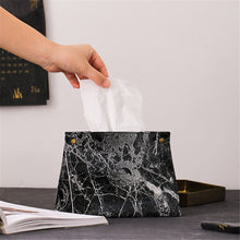 Load image into Gallery viewer, Marble Boutique Tissue Box Cover - infoAlamaison