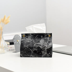 Marble Boutique Tissue Box Cover - infoAlamaison